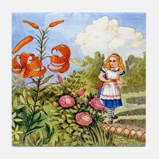 The Talking Flowers and Alice in Wond Tile Coaster