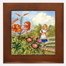 The Talking Flowers and Alice in Wonde Framed Tile
