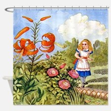 The Talking Flowers and Alice in Wo Shower Curtain