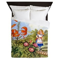 The Talking Flowers and Alice in Wonde Queen Duvet