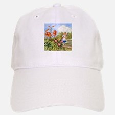 The Talking Flowers and Alice in Wonderland, f Baseball Baseball Cap