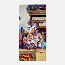 Alice, the Duchess and the Pig Baby Beach Towel
