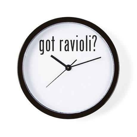 got ravioli Wall Clock