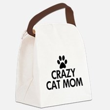 Crazy Cat Mom Canvas Lunch Bag