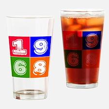 1968 Birthday Designs Drinking Glass