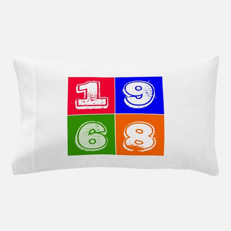 1968 Birthday Designs Pillow Case