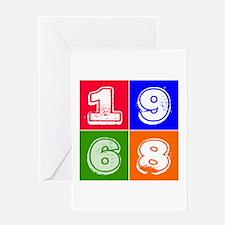 1968 Birthday Designs Greeting Card