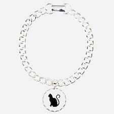 Black Cat Silhouette Bracelet