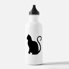 Black Cat Silhouette Water Bottle