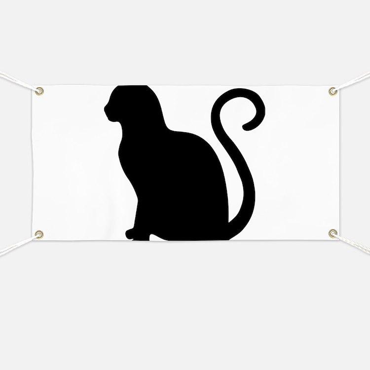 Black Cat Silhouette Banner