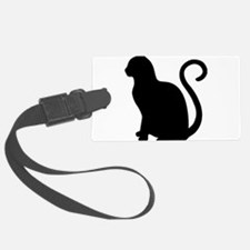Black Cat Silhouette Luggage Tag
