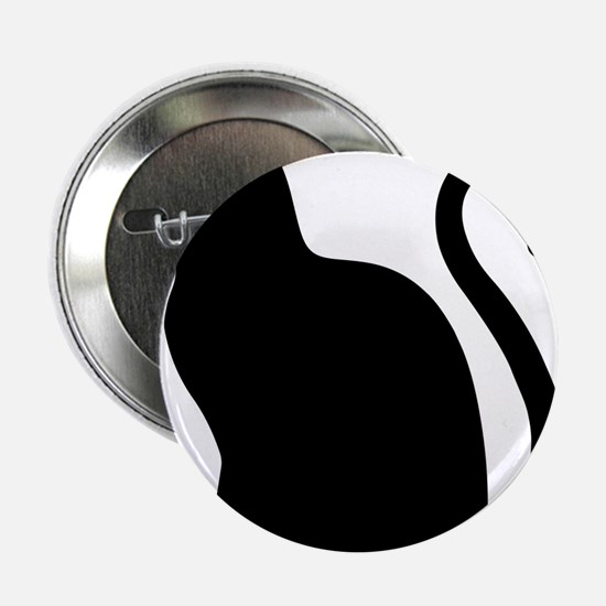 """Black Cat Silhouette 2.25"""" Button (10 pack)"""