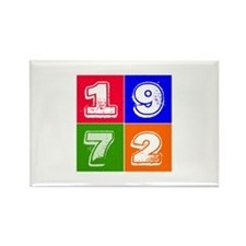 1972 Birthday Designs Rectangle Magnet