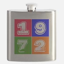 1972 Birthday Designs Flask