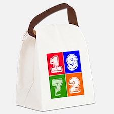 1972 Birthday Designs Canvas Lunch Bag