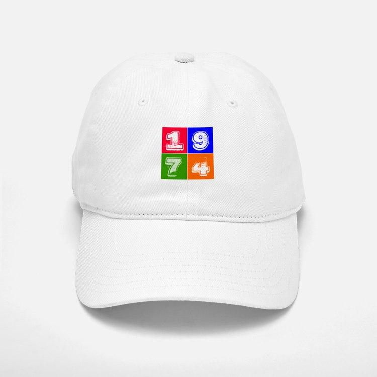 1974 Birthday Designs Baseball Baseball Cap