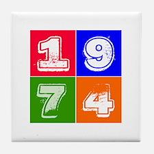 1974 Birthday Designs Tile Coaster