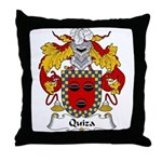 Quiza Family Crest  Throw Pillow