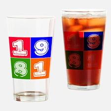 1981 Birthday Designs Drinking Glass