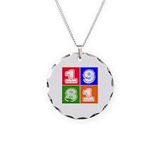 1981 Birthday Designs Necklace