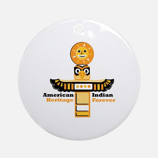 American Indian Heritage Round Ornament