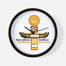 American Indian Heritage Wall Clock
