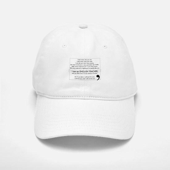 I Will Find You – Commas Baseball Baseball Cap
