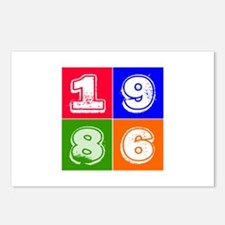 1986 Birthday Designs Postcards (Package of 8)