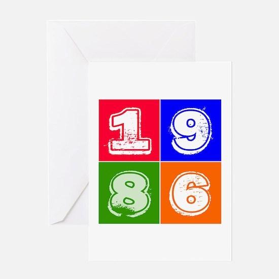 1986 Birthday Designs Greeting Card