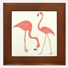 Unique Flamingo Framed Tile