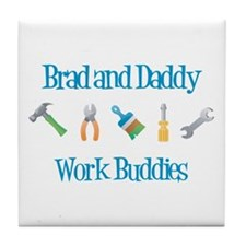 Brad - Work Buddies Tile Coaster