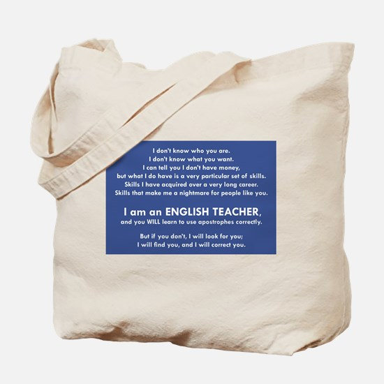 I Will Find You - Apostrophes Tote Bag
