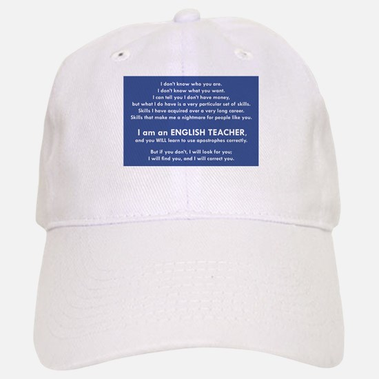 I Will Find You - Apostrophes Baseball Baseball Cap