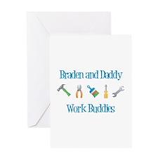 Braden - Work Buddies Greeting Card