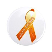 We Care Orange Ribbon Button