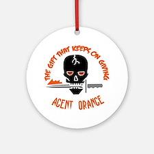 Agent Orange Round Ornament