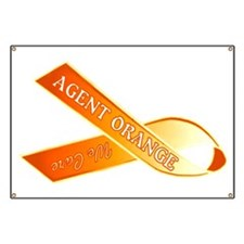 We Care Orange Ribbon Banner