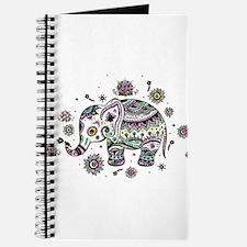 Cute Pastel Colors Floral Elephant Journal