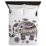 Elephant Luxe Full/Queen Duvet Cover