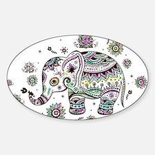 Cute Pastel Colors Floral Elephant Decal