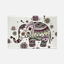 Cute Pastel Colors Floral Elephant Magnets