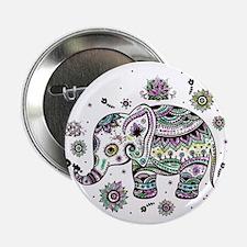 """Cute Pastel Colors Floral E 2.25"""" Button (10 pack)"""