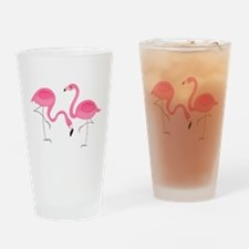 Cute air Of Pink Flamingos Drinking Glass