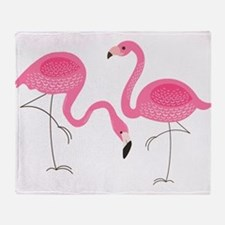 Cute air Of Pink Flamingos Throw Blanket