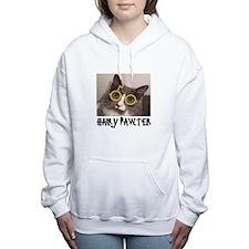 CATS - HAIRY PAWTER Women's Hooded Sweatshirt