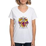 Quijano Family Crest Women's V-Neck T-Shirt