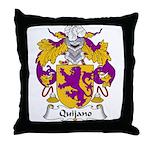 Quijano Family Crest Throw Pillow