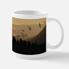 Sandhill Cranes at Sunrise Mugs