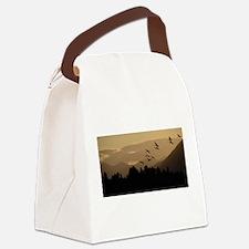 Sandhill Cranes at Sunrise Canvas Lunch Bag