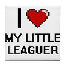 I Love My Little Leaguer Tile Coaster